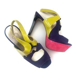Jessica Simpson Colorblock Bendie Platform Sandals